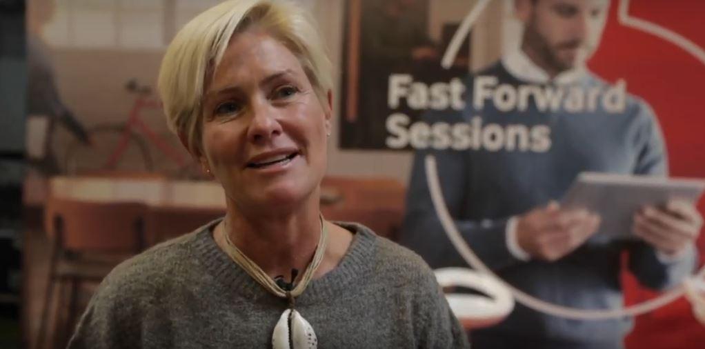 Marta en la Presentación de los Premios Fast Forwards de Vodafone